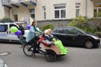 Die erste Ausfahrt mit der Fahrrad-Rikscha.; Quelle: Badischer Landesverein für Innere Mission / Marina Mandery