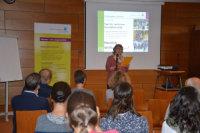 Barbara Mechelke-Bordanowicz beim Vortrag.; Quelle: Badischer Landesverein für Innere Mission / Marina Mandery