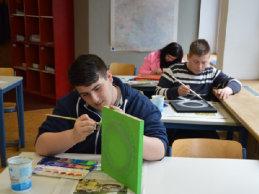 Im Klassenzimmer der Werkstattschule Pforzheim; Quelle: Badischer Landesverein für Innere Mission
