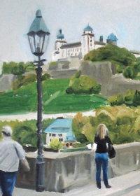 Blick auf eine Burg; Quelle: Dorothee Simons