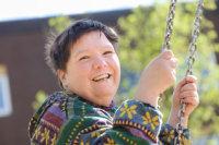 Eine Bewohnerin des Martinshauses.; Quelle: Badischer Landesverein für Innere Mission